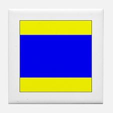 "ICS Flag Letter ""D"" Tile Coaster"