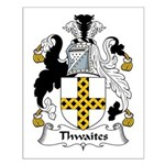 Thwaites Family Crest Small Poster