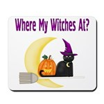 Witch on Broomstick Mousepad