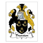Thurston Family Crest Small Poster