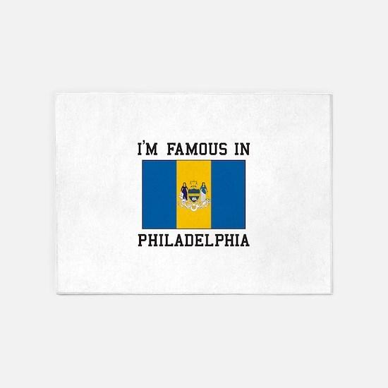 I Love Philadelphia 5'x7'Area Rug