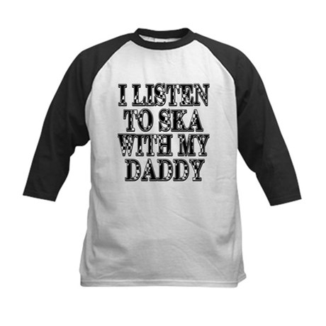Ska With Daddy Kids Baseball Jersey