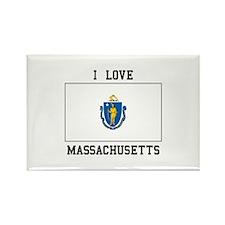 I Love Massachusetts Magnets