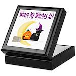Witch on Broomstick Keepsake Box