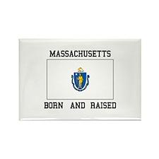 Born and Raised Massachusetts Magnets