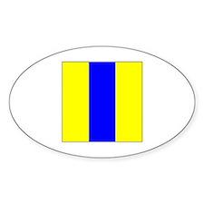 "ICS Flag Letter ""E"" Decal"
