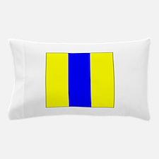 """ICS Flag Letter """"E"""" Pillow Case"""