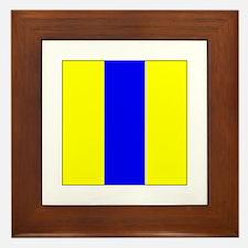 """ICS Flag Letter """"E"""" Framed Tile"""
