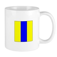 "ICS Flag Letter ""E"" Mugs"