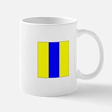 "ICS Flag Letter ""E"" Mugs"