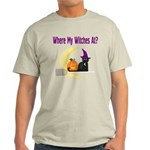 Witch on Broomstick Light T-Shirt