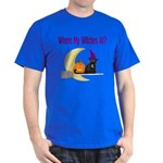 Witch on Broomstick Dark T-Shirt