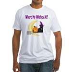 Witch on Broomstick Fitted T-Shirt