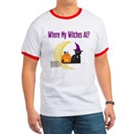 Witch on Broomstick Ringer T