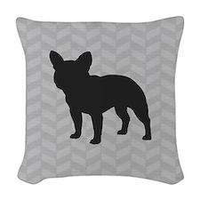 French Bulldog Woven Throw Pillow