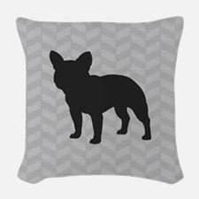French Bulldog Woven Throw Pillow