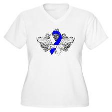 ALS Disease Fighter Wing Plus Size T-Shirt