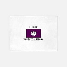 I Love Phoenix Arizona 5'x7'Area Rug