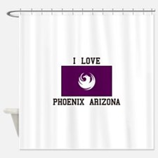 I Love Phoenix Arizona Shower Curtain