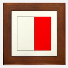 """ICS Flag Letter """"H"""" Framed Tile"""