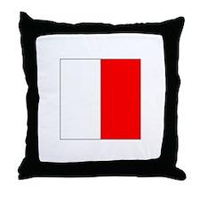 "ICS Flag Letter ""H"" Throw Pillow"