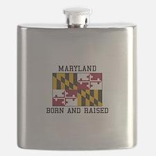Born and Raised Maryland Flask