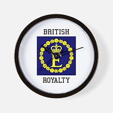 British Royalty Wall Clock