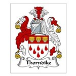 Thorndike Family Crest Small Poster