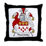 Thorndike Family Crest Throw Pillow