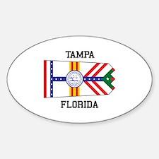 Tampa, Florida Flag Decal