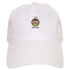 I Love Maryland Seal Baseball Baseball Cap