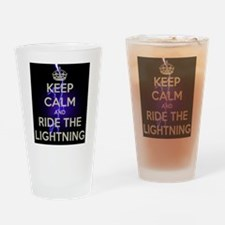 Keep Calm and Ride Drinking Glass