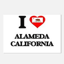 I love Alameda California Postcards (Package of 8)