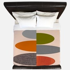Mid-Century Modern Ovals and Abstracts King Duvet
