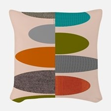 Mid-Century Modern Ovals and A Woven Throw Pillow