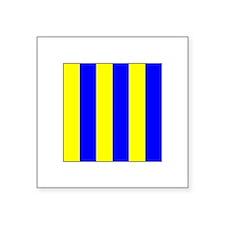 """ICS Flag Letter """"G"""" Sticker"""