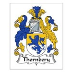 Thornbery Family Crest Small Poster
