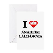 I love Anaheim California Greeting Cards