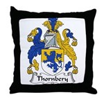 Thornbery Family Crest Throw Pillow
