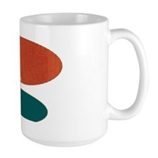 Mid-Century Modern Ovals and Abstracts Mugs
