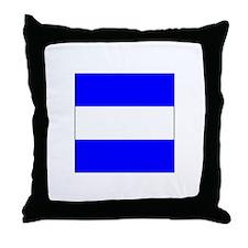 """ICS Flag Letter """"J"""" Throw Pillow"""