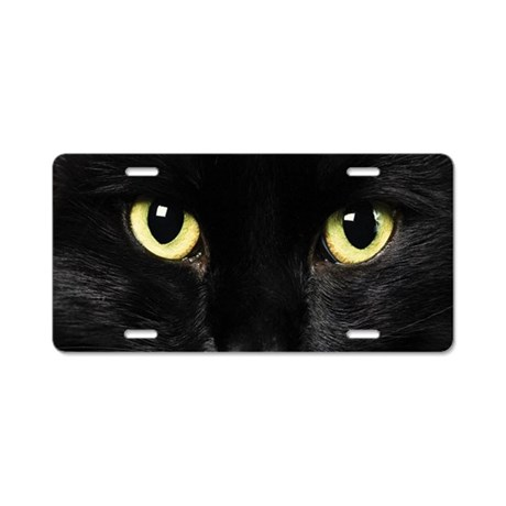 Black Cat Aluminum License Plate By Wickeddesigns