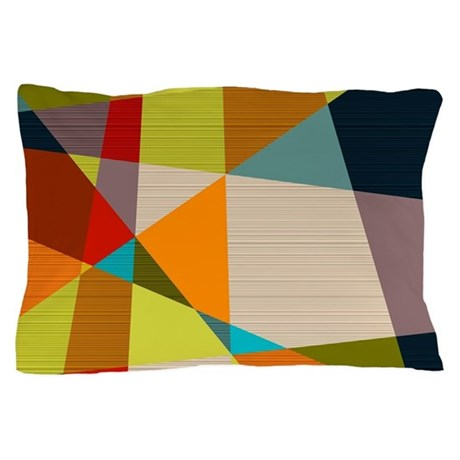 Mid Century Modern Geometric Pillow Case by Admin_CP8139249