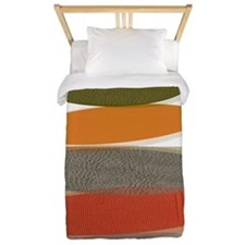 Mid-Century Modern Ovals and Abstracts Twin Duvet