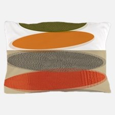 Mid-Century Modern Ovals and Abstracts Pillow Case