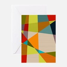 Mid Century Modern Geometric Greeting Cards