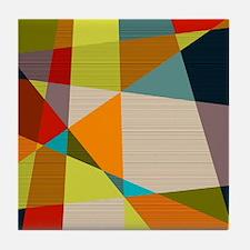 Mid Century Modern Geometric Tile Coaster