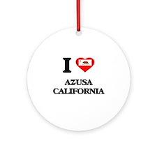 I love Azusa California Ornament (Round)