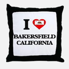 I love Bakersfield California Throw Pillow