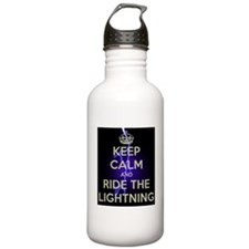 keep calm and ride the lightning Water Bottle